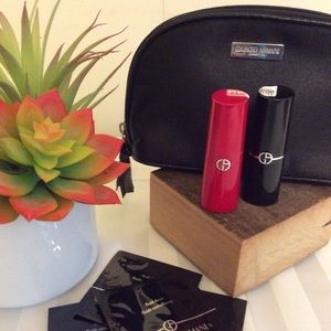 Giorgio Armani lipstick duo with bag